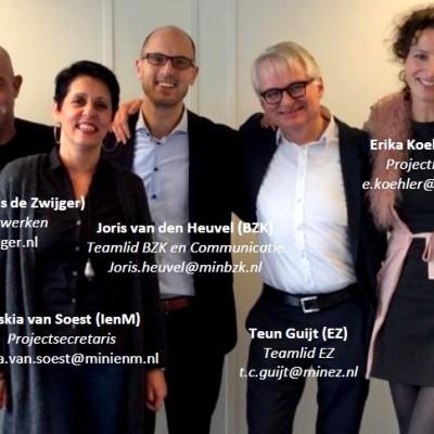 Het projectteam van de Innovatie-estafette