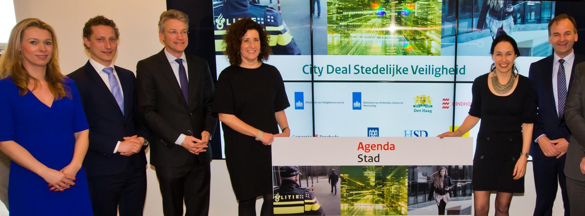 Ondertekening City Deal Stedelijke Veiligheid.
