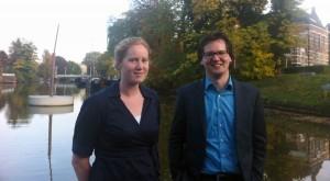 Anne Vrouwe, adviseur water gemeente Zwolle en Geert Janssen, bestuursadviseur gemeente Zwolle