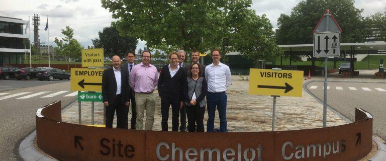 Deelnemers aan de Eurolabsessie op Chemelot Campus. Foto: Pieter Verbeek.