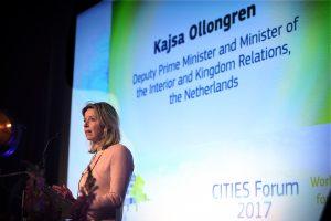 Nederland, Rotterdam, 20171127 Minister van BZK Kasja Ollongren als keynote speaker tijdens het City Forum 2017 Foto: Kick Smeets / Rijksoverheid 2017