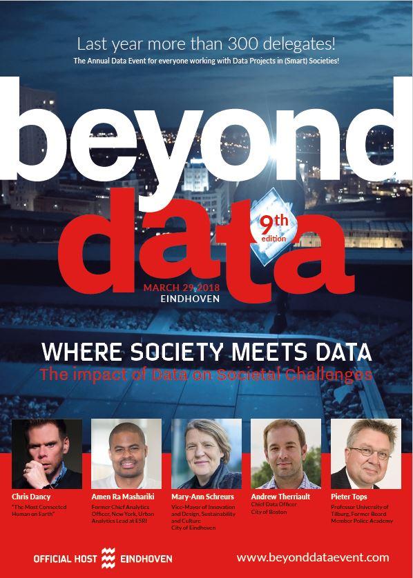 Poster met belangrijke informatie over datum en onderwerpen Beyond Data 2018