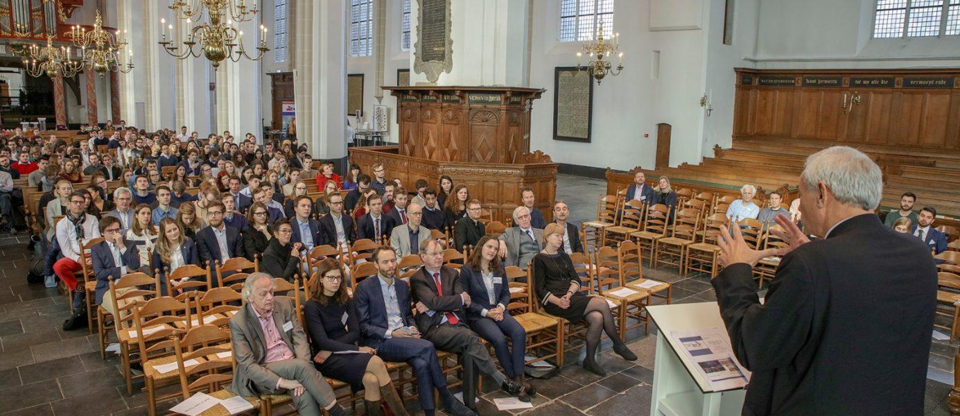 Toespraak Nicolaas Beets bij symposium ECU Future of Cities, 20 februari 2019 Utrecht. Foto: Rob Acket
