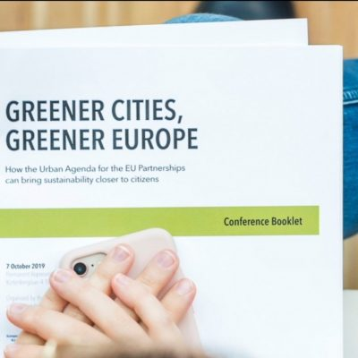 Voorkant van rapport Greener Cities Greener Europe