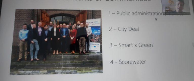 Schermafdruk van Future City webinar op 26 maart 2020