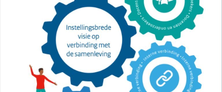 Omslag van de brochure Instellingsbrede visie op verbinding met de samenleving