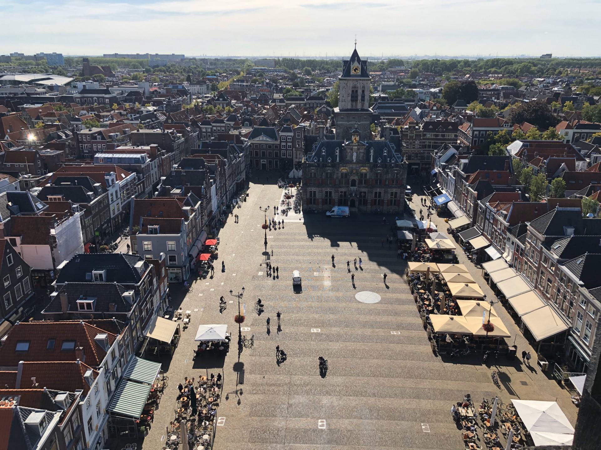 Het centrum van Delft. Foto: Pieter Verbeek.