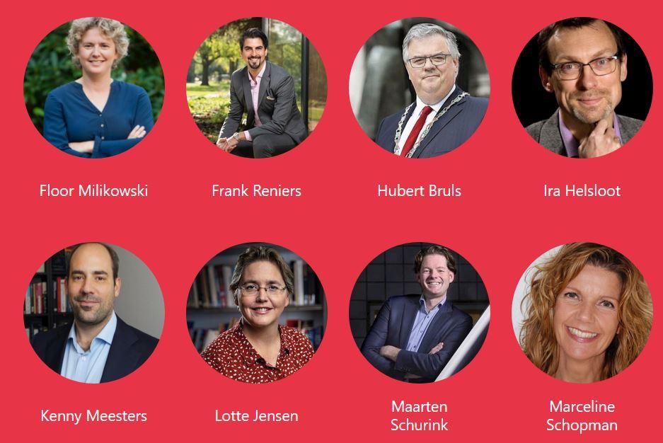 Een selectie van de sprekers van de Dag van de Stad 2020
